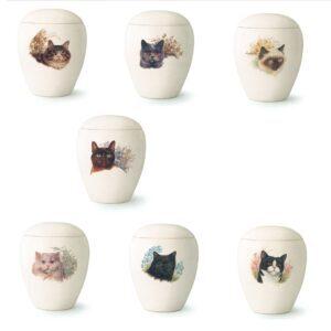 Tierurne Bianco Katzenmotiv Katzenurne