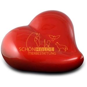 Tierurne rotes Herz